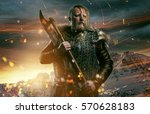 viking during fight | Shutterstock . vector #570628183