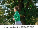 autumn jogging | Shutterstock . vector #570629038