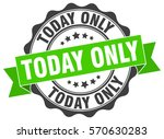 today only. stamp. sticker.... | Shutterstock .eps vector #570630283