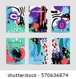 vector set of artistic creative ... | Shutterstock .eps vector #570636874
