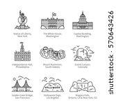 city travel landmarks  tourist... | Shutterstock .eps vector #570643426