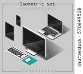 vector set of isometric devices....