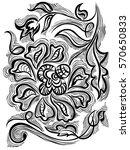 decorative ornamental flower ... | Shutterstock .eps vector #570650833