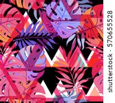 exotic seamless pattern with... | Shutterstock .eps vector #570655528