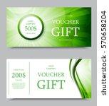 gift company voucher template...   Shutterstock .eps vector #570658204