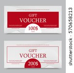 gift voucher template on one... | Shutterstock .eps vector #570658213