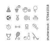 set of minimalistic sport icons | Shutterstock .eps vector #570661018