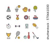 set of minimalistic sport icons   Shutterstock .eps vector #570661030