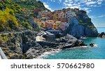 the colorful coast in cinque...   Shutterstock . vector #570662980