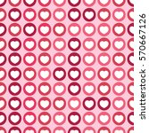 seamless pattern with heart.... | Shutterstock .eps vector #570667126