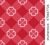 seamless pattern with heart.... | Shutterstock .eps vector #570667726