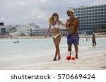 honeymoon romantic lovers... | Shutterstock . vector #570669424