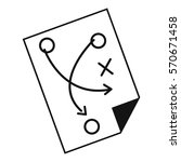 soccer strategy icon simple