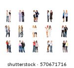 office culture many colleagues  | Shutterstock . vector #570671716