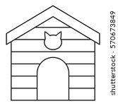 Pet House Icon. Outline...