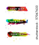 set of grungy colorful banners | Shutterstock .eps vector #57067633
