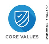 company core values outline... | Shutterstock .eps vector #570685714