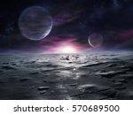 extraterrestrial landscape of... | Shutterstock . vector #570689500