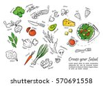 hand drawn vector illustration... | Shutterstock .eps vector #570691558