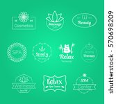 spa wellness body care badges... | Shutterstock .eps vector #570698209