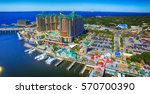 destin  florida. aerial view of ... | Shutterstock . vector #570700390