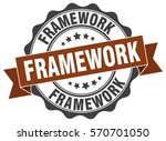 framework. stamp. sticker. seal.... | Shutterstock .eps vector #570701050