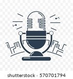 microphone for the radio... | Shutterstock .eps vector #570701794