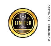 gold and black badge vintage... | Shutterstock .eps vector #570701890
