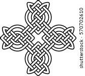 celtic pattern. element of... | Shutterstock .eps vector #570702610