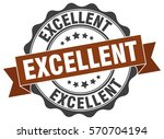excellent. stamp. sticker. seal.... | Shutterstock .eps vector #570704194