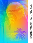 tropical sunset or tropical... | Shutterstock .eps vector #570707566