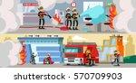 rescue service colorful... | Shutterstock .eps vector #570709903