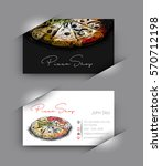 pizza shop business card vector ...   Shutterstock .eps vector #570712198