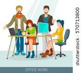 teamwork concept. business... | Shutterstock .eps vector #570713800