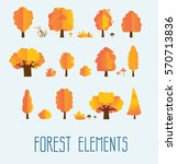 set of different isolated trees | Shutterstock .eps vector #570713836