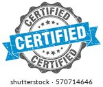certified. stamp. sticker. seal.... | Shutterstock .eps vector #570714646
