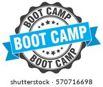 boot camp. stamp. sticker. seal.... | Shutterstock .eps vector #570716698