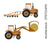 set of vector agricultural... | Shutterstock .eps vector #570721693