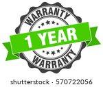 1 year warranty. stamp. sticker....   Shutterstock .eps vector #570722056