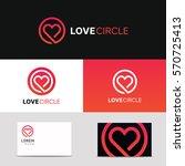 Minimal Clean Heart Icon Love...