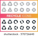 set of outline and flat recycle ... | Shutterstock .eps vector #570726640