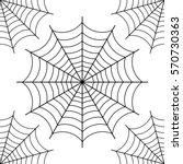 halloween spider web   black... | Shutterstock .eps vector #570730363