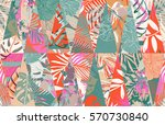 seamless pattern with tropical... | Shutterstock .eps vector #570730840