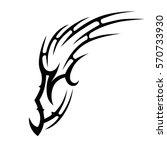 tribal tattoos design element.... | Shutterstock .eps vector #570733930