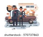 mafia man character | Shutterstock .eps vector #570737863