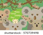 cute different koalas sitting... | Shutterstock .eps vector #570739498