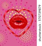 kiss.valentines day wedding...   Shutterstock .eps vector #570739879