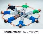 the kids dance school  ballet ... | Shutterstock . vector #570741994