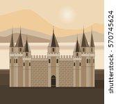 vector illustration of a castle ... | Shutterstock .eps vector #570745624