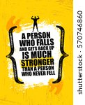 a person who falls and gets... | Shutterstock .eps vector #570746860